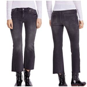 New Free People Rita Raw-Edge Cropped Flare Jeans